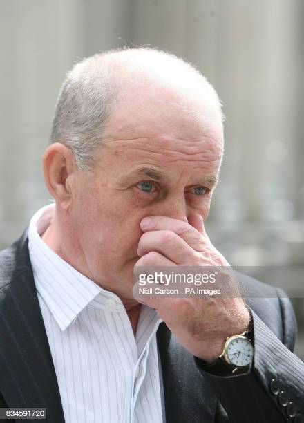 Stephen Quinn father of murdered man Paul Quinn leaving Dundalk Courthouse County Louth after the Quinn inquest was adjourned