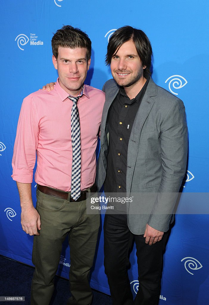 Stephen Rannazzisi and Jon Lajoie attend the Time Warner Cable Media 'Cabletime' Upfront at Yotel Hotel on June 7, 2012 in New York City.