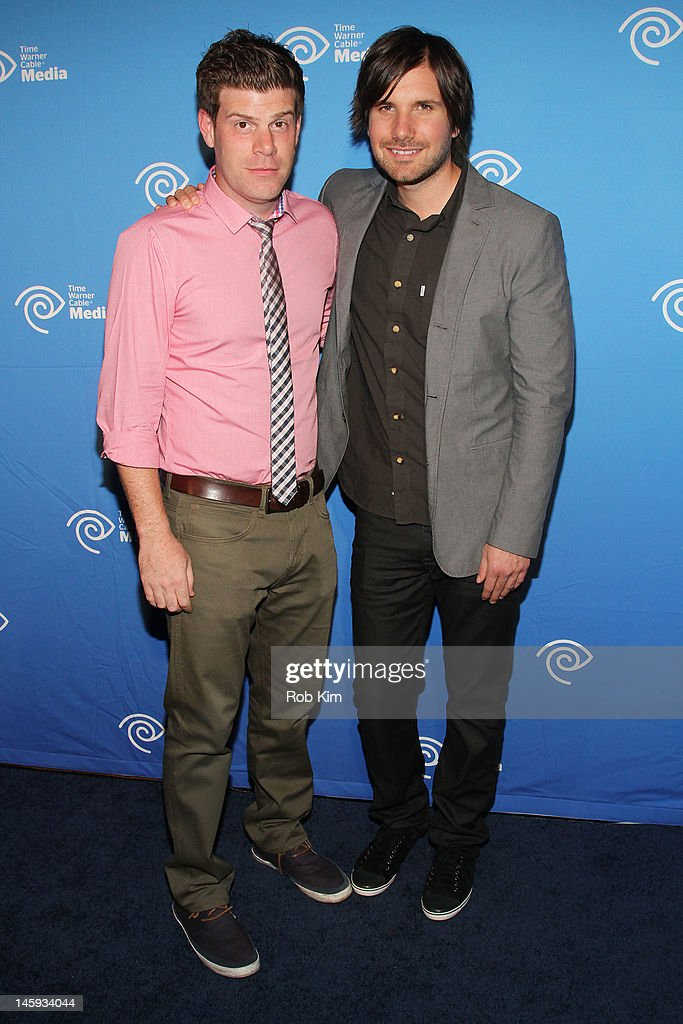 Stephen Rannazzisi (L) and Jon Lajoie of FX's The League attend the Time Warner Cable Media 'Cabletime' Upfront at Yotel Hotel on June 7, 2012 in New York City.