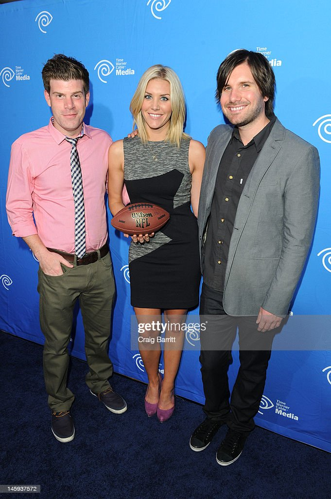 Stephen Rannazzisi, Charissa Thompson and Jon Lajoie attends the Time Warner Cable Media 'Cabletime' Upfront at Yotel Hotel on June 7, 2012 in New York City.