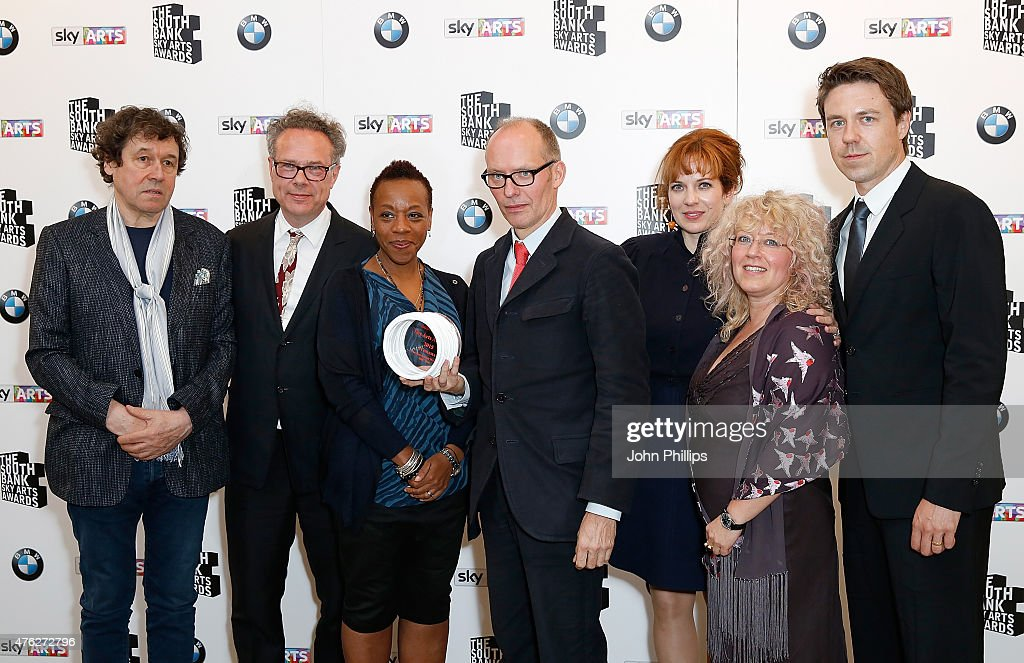 Stephen Rea Greg Brenman Marianne JeanBaptiste Hugo Blick Abi Bach Katherine Parkinson and Andrew Buchan with the award for Best TV Drama for The...