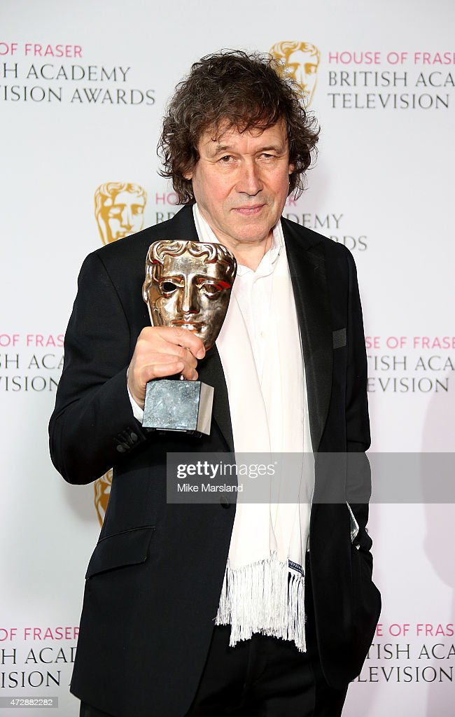 Stephen Rea poses in the winners room with the Best Supporting Actor award at the House of Fraser British Academy Television Awards at Theatre Royal on May 10, 2015 in London, England.