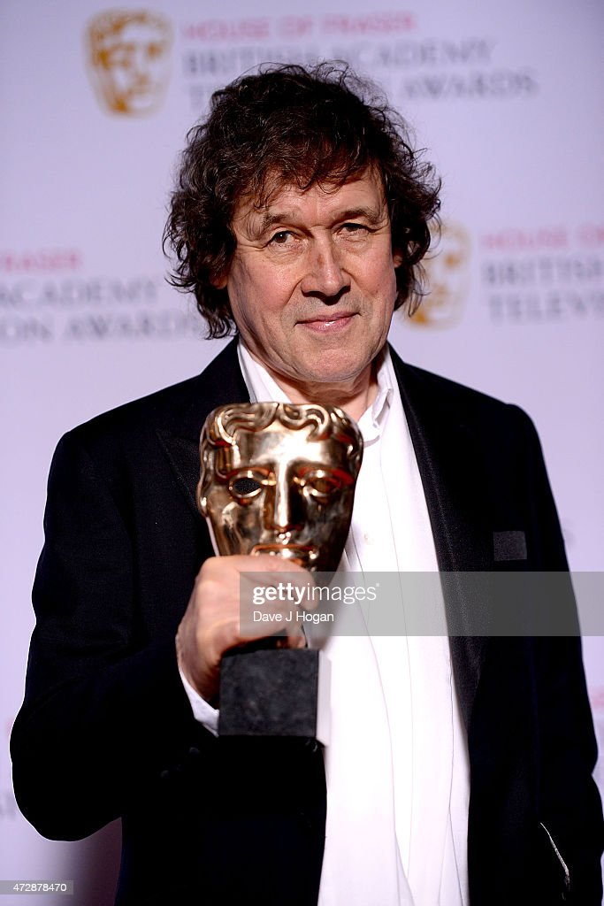Stephen Rea winner of Best Supporting Actor poses in the winners room at the House of Fraser British Academy Television Awards at Theatre Royal on May 10, 2015 in London, England.