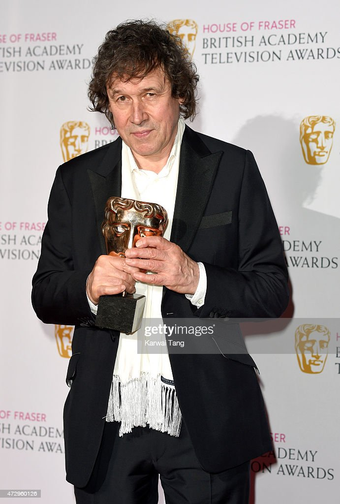 Stephen Rea winner of Best Supporting Actor poses in the winners room at the House of Fraser British Academy Television Awards at Theatre Royal on...