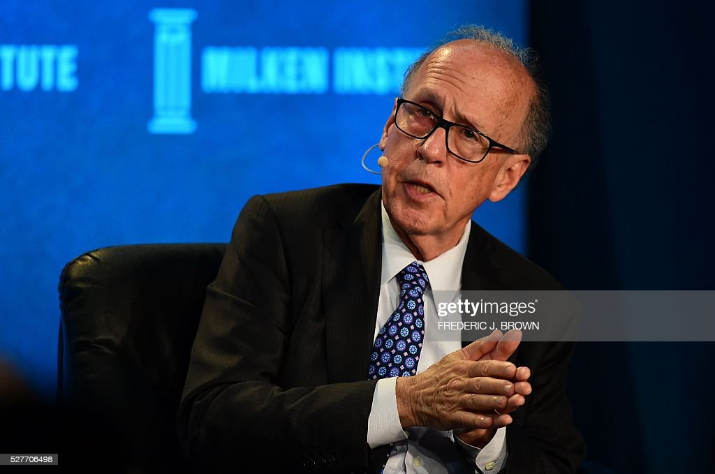 Stephen Roach, Senior Fellow, Jackson Institute for Global Affairs, Yale University, speaks on the panel 'China's Future: The Sky Is Not Falling' at the 2016 Milken Institute Global Conference in Beverly Hills, California on May 3, 2016. / AFP / FREDERIC