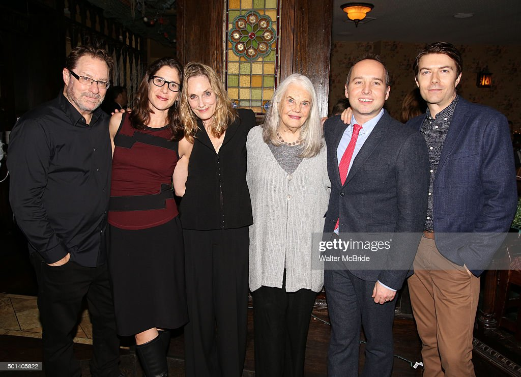 Stephen Root Anne Kauffman Lisa Emery Lois Smith Jordan Harrison and Noah Bean attend the opening night after party for the Playwrights Horizons New...
