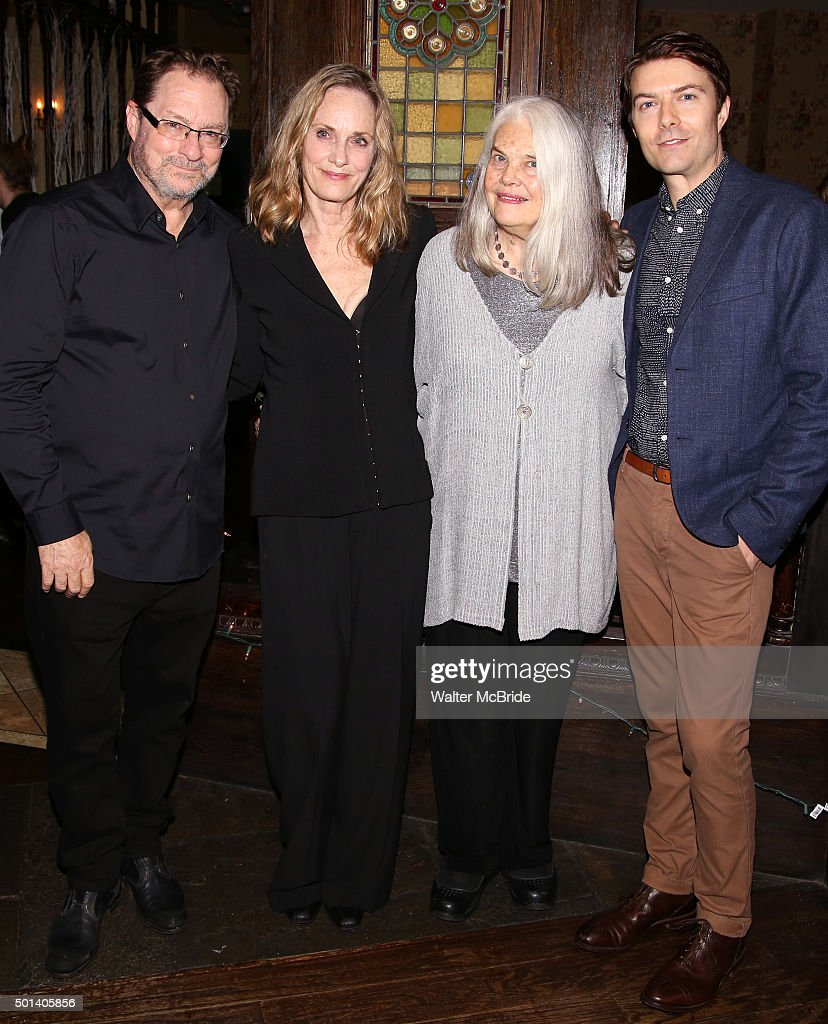 Stephen Root Lisa Emery Lois Smith and Noah Bean attend the opening night after party for the Playwrights Horizons New York premiere production of...