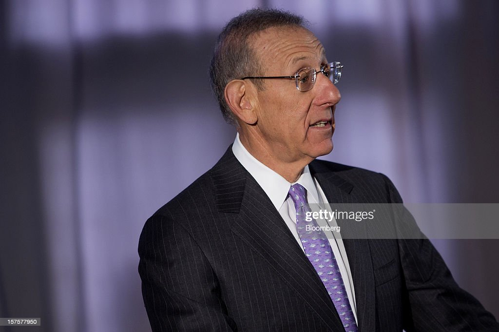 Stephen Ross, chairman and founder of Related Cos., speaks during the groundbreaking ceremony for the Hudson Yards development in New York, U.S., on Tuesday, Dec. 4, 2012. Related Cos. has tentative deals in place for two more tenants to occupy the first tower of its Hudson Yards development, Ross said today as construction began at the 26-acre site on Manhattan's west side. Photographer: Victor J. Blue/Bloomberg via Getty Images