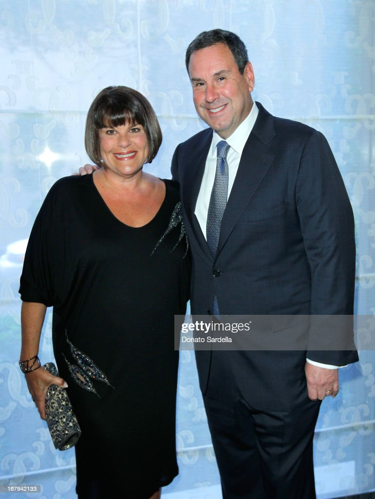 "Stephen Sadove, CEO and Chairman of Saks (R) and Karin Sadove attend EIF Women's Cancer Research Fund's 16th Annual ""An Unforgettable Evening"" presented by Saks Fifth Avenue at the Beverly Wilshire Four Seasons Hotel on May 2, 2013 in Beverly Hills, California."