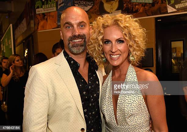Stephen Schlapman and singer Kimberly Schlapman attend the 2015 CMT Music awards at the Bridgestone Arena on June 10 2015 in Nashville Tennessee