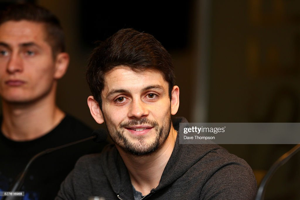 Stephen Smith during a press conference at Goodison Park on May 3, 2016 in Liverpool, England. Smith will fight on the undercard of Tony Bellew against Ilunga Makabu on May 29 at the home of Everton Football Club.