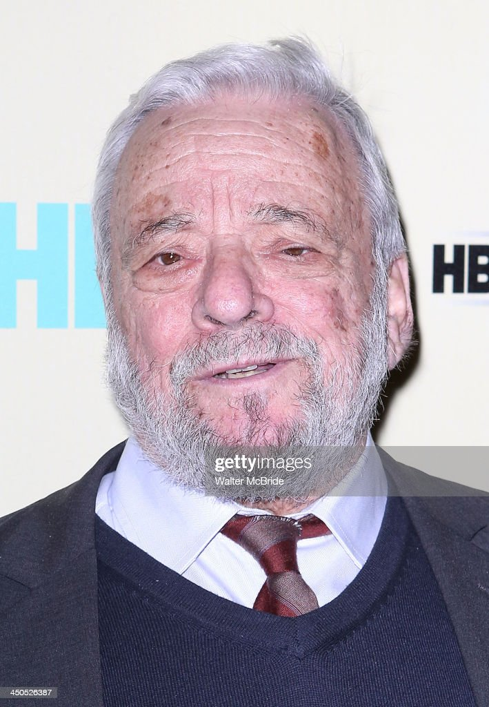 Stephen Sondheim attends the 'Six By Sondheim' premiere at the Museum of Modern Art on November 18, 2013 in New York City.