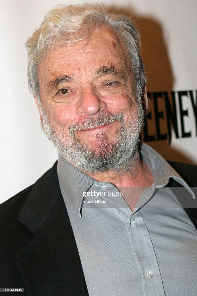Stephen Sondheim, composer during 'Sweeney Todd' Opening Night on Broadway at The Eugene O'Neill Theater then The Copacabana in New York City, New York, United States.