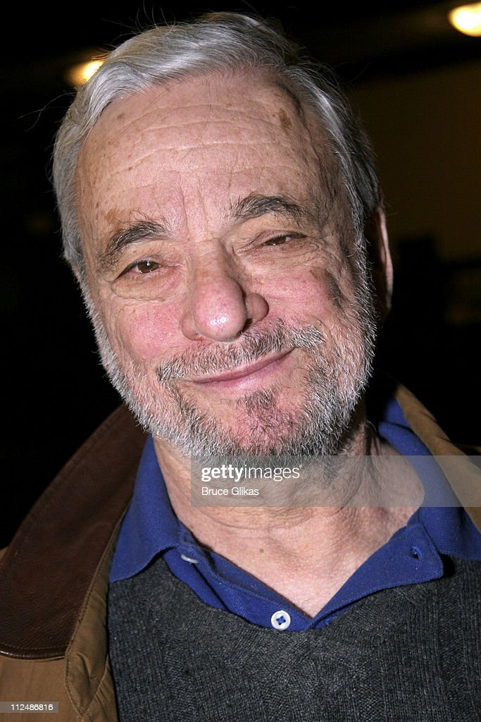 Stephen Sondheim during Sneak Preview of the Upcoming Sondheim 75th Birthday Celebration 'Children and Art' at St. Paul and St. Andrew Methodist Church in New York City, New York, United States.