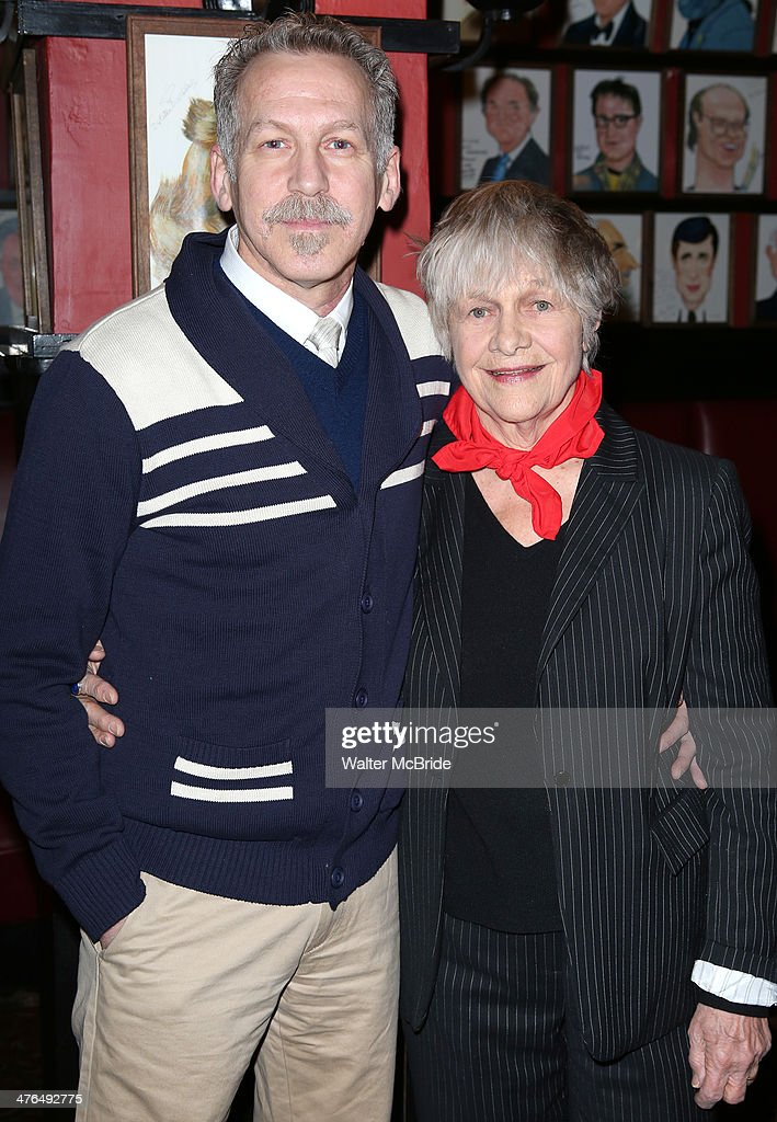 Stephen Spinella and <a gi-track='captionPersonalityLinkClicked' href=/galleries/search?phrase=Estelle+Parsons&family=editorial&specificpeople=221565 ng-click='$event.stopPropagation()'>Estelle Parsons</a> attend the Meet & Greet for 'The Velocity of Autumn' at Sardi's Restaurant on March 3, 2014 in New York City.