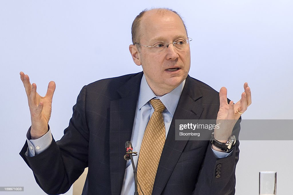 Stephen 'Steve' Girsky, vice chairman of General Motors Co., gestures during a joint news conference with PSA Peugeot Citroen in Brussels, Belgium, on Thursday, Jan. 24, 2013. General Motors Co. and PSA Peugeot Citroen said the French carmaker will take the lead in developing joint models as the first anniversary approaches of an alliance aimed at restoring profit to European operations. Photographer: Jock Fistick/Bloomberg via Getty Images