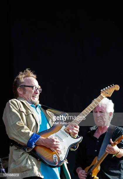 Stephen Stills and Graham Nash of CSN perform at Day 3 of Hard Rock Calling>> at Hyde Park on June 27 2010 in London England