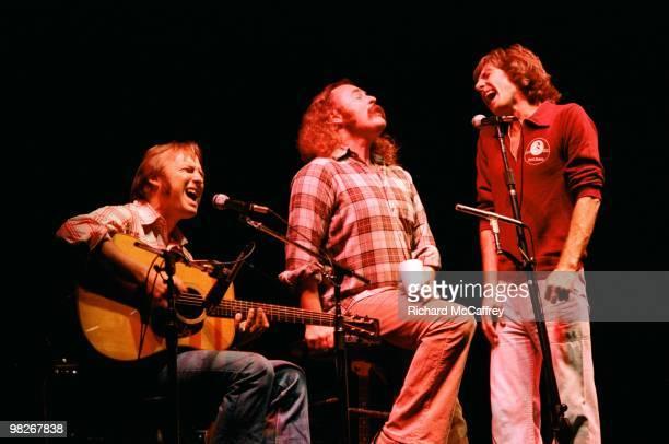 Stephen Stills David Crosby and Graham Nash perform live at The Winterland Ballroom in 1978 in San Francisco California