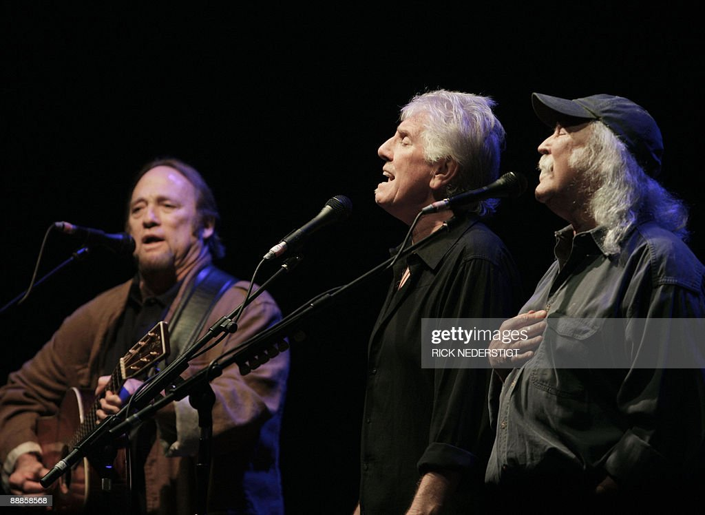 Stephen Stills Graham Nash and David Crosby of Crosby Stills and Nash perform in the Heineken Music Hall in Amsterdam The Netherlands on July 06 2009...