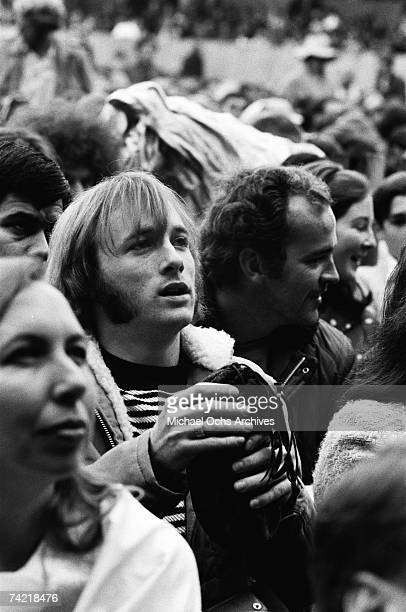 Stephen Stills of Buffalo Springfield in the audience at the Monterey Pop Festival on June 18 1967 in Monterey California
