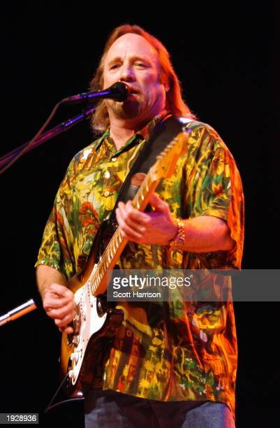 Stephen Stills of Crosby Stills Nash performs at the Assembly Hall April 13 2003 in Champaign Illinois