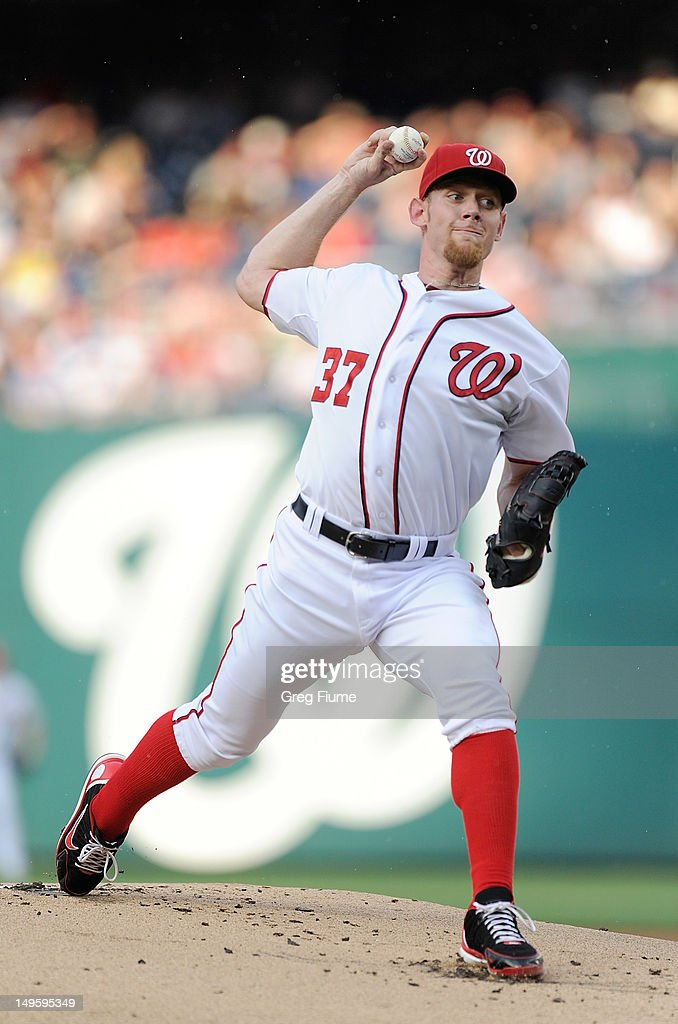 <a gi-track='captionPersonalityLinkClicked' href=/galleries/search?phrase=Stephen+Strasburg&family=editorial&specificpeople=6164496 ng-click='$event.stopPropagation()'>Stephen Strasburg</a> #37 of the Washington Nationals pitches against the Philadelphia Phillies at Nationals Park on July 31, 2012 in Washington, DC.