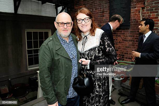 Stephen Sumner and Glenda Bailey attend Historic Royal Palaces Patrons Secret Garden Party at Merchant's House Museum on May 24 2016 in New York City