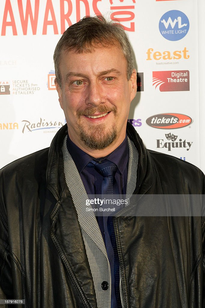 Stephen Tompkinson attends the Whatsonstage.com Theare Awards nominations launch at Cafe de Paris on December 7, 2012 in London, England.