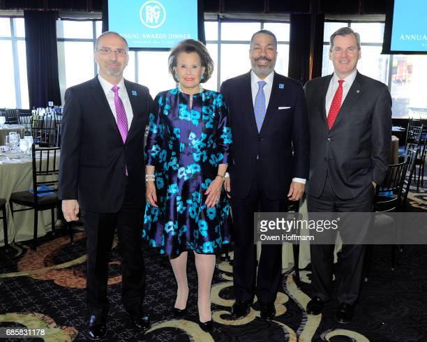 Stephen Tosh Hildegarde 'Hillie' Mahoney Valentino Carlotti and Bill Tyree attend The Boys' Club of New York Annual Awards Dinner at Mandarin...