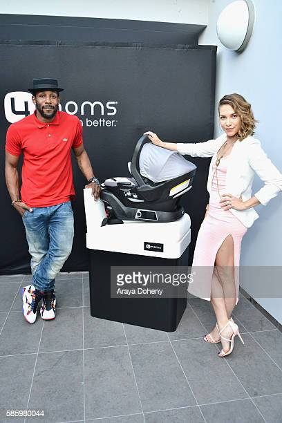 Stephen 'tWitch' Boss and dancer Allison Holker attend the 4moms Car Seat launch event at Petersen Automotive Museum on August 4 2016 in Los Angeles...