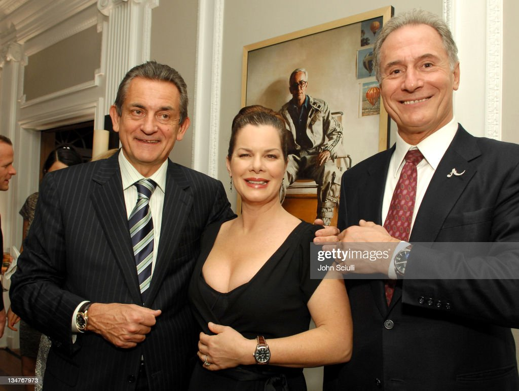 Stephen Urquhart President of Omega and Marcia Gay Harden and Osvaldo Patrizzi Chairman of Antiquorum