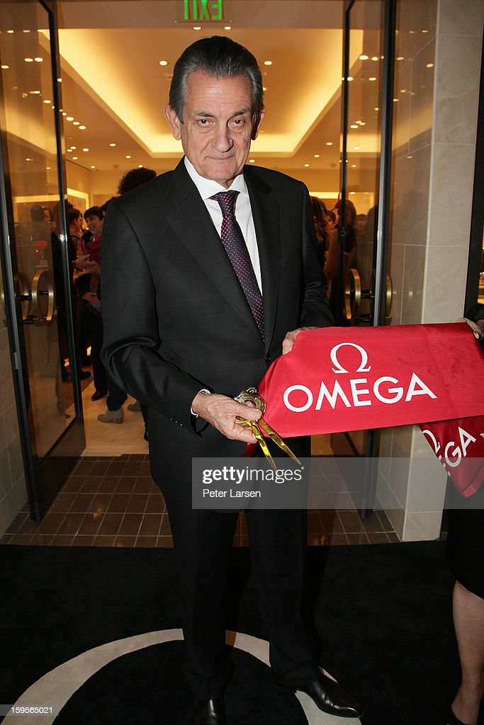 <a gi-track='captionPersonalityLinkClicked' href=/galleries/search?phrase=Stephen+Urquhart&family=editorial&specificpeople=549432 ng-click='$event.stopPropagation()'>Stephen Urquhart</a>, President of Omega cuts the ribbon at the Grand Opening of the Omega Boutique at NorthPark on January 15, 2013 in Dallas, Texas.