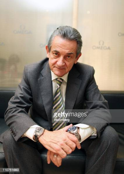 Stephen Urquhart president of Swatch Group AG's Omega brand poses for a photograph at the Baselworld watch fair in Basel Switzerland on Wednesday...