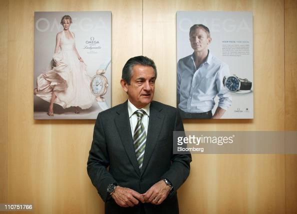 Stephen Urquhart president of Swatch Group AG's Omega brand stands for a photograph at the Baselworld watch fair in Basel Switzerland on Wednesday...