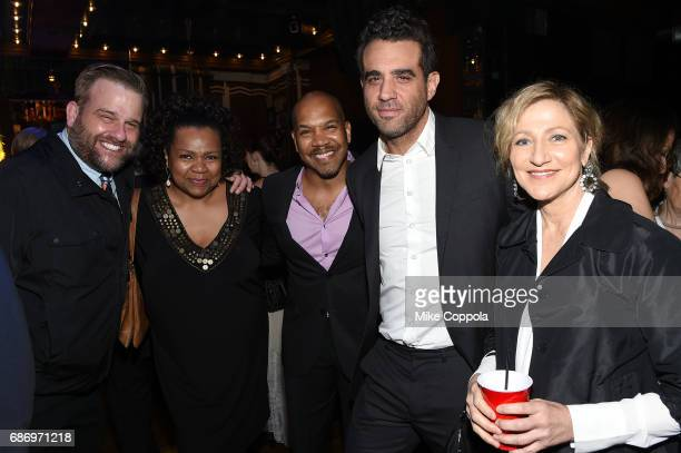 Stephen Wallem Darius de Hass Bobby Cannavale and Edie Falco attend the 2017 Obie Awards at Webster Hall on May 22 2017 in New York City
