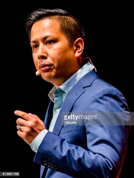 Stephen Wang chief of user growth and egagement of Tencent WeChat attends the Day 3 of the RISE Conference 2017 at the Hong Kong Convention and...