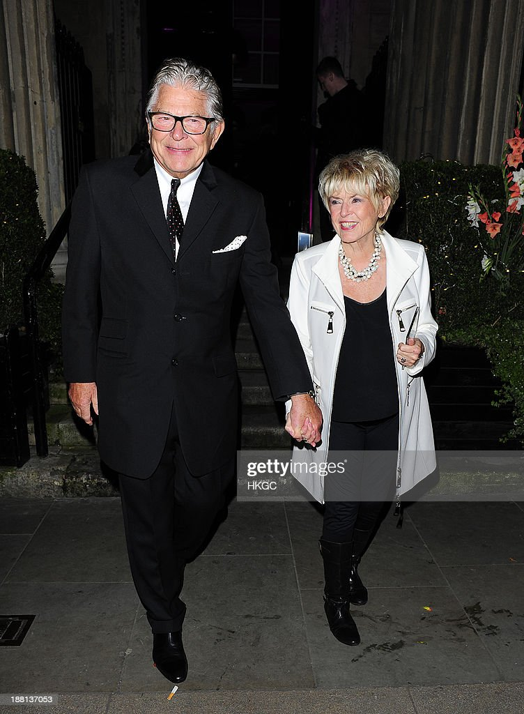 Stephen Way and <a gi-track='captionPersonalityLinkClicked' href=/galleries/search?phrase=Gloria+Hunniford&family=editorial&specificpeople=213824 ng-click='$event.stopPropagation()'>Gloria Hunniford</a> attend an after party celebrating the press night performance of 'Barry Humphries' Eat, Pray, Laugh!' at One Mayfair on November 15, 2013 in London, England.
