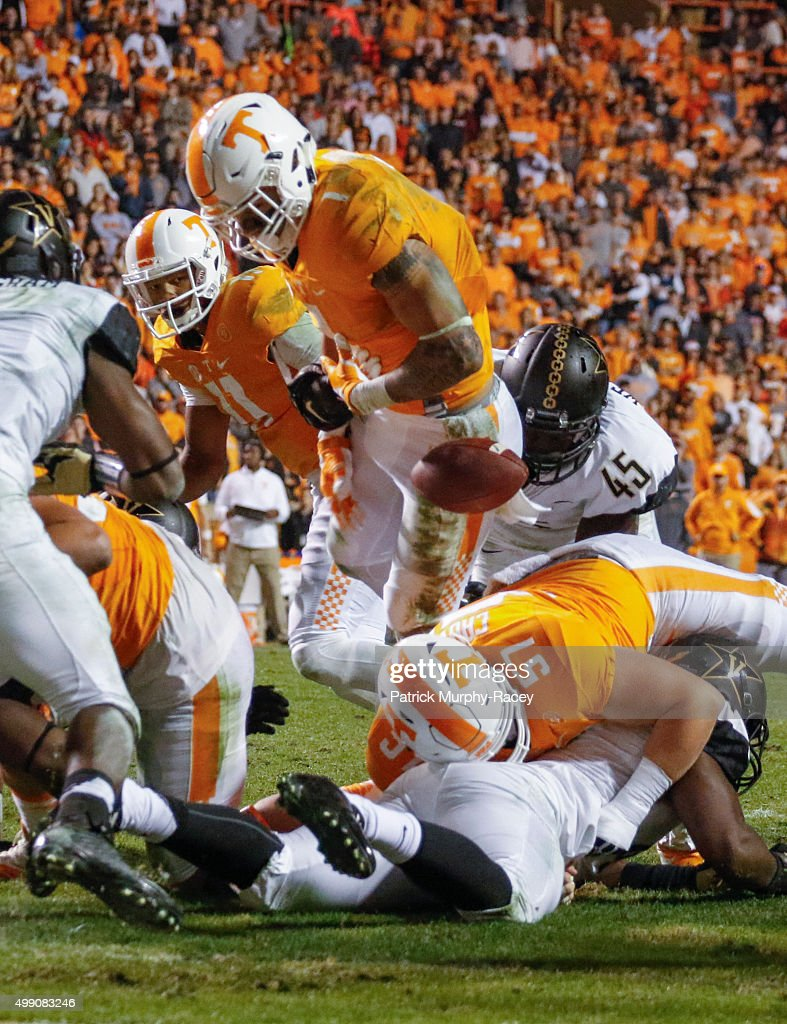 d12a22b19 ... Stephen Weatherly 45 of the Vanderbilt Commodores causes Jalen Hurd 1  of the Tennessee ...