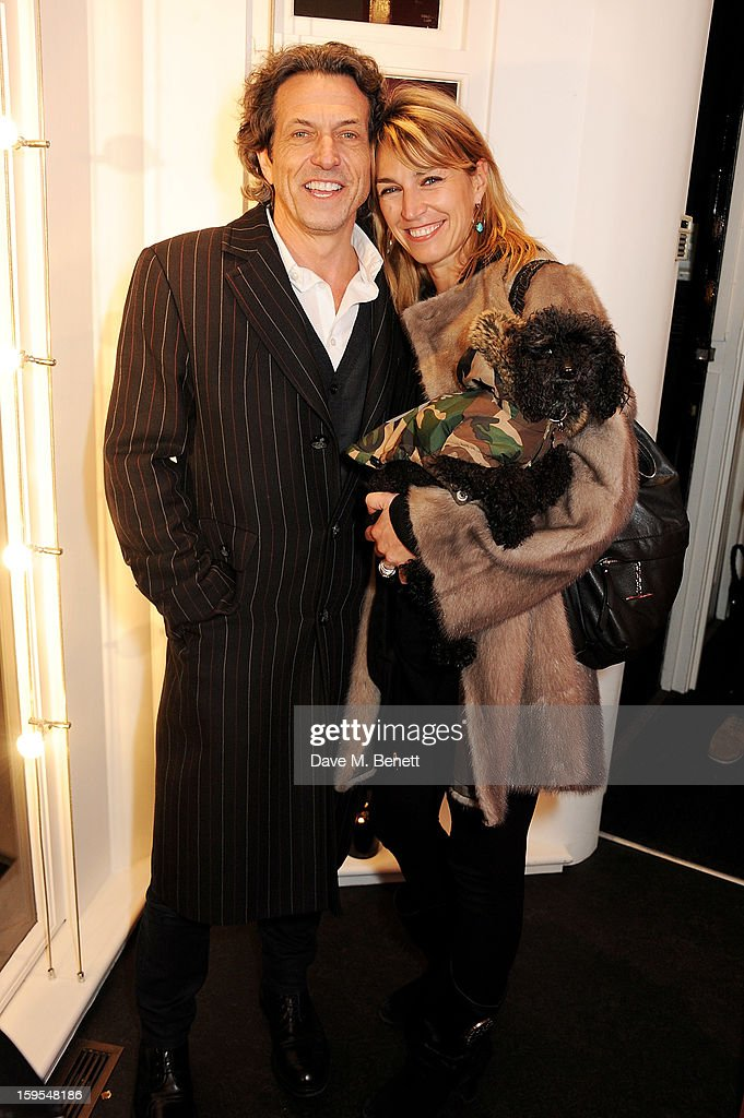 Stephen Webster (L) and Anastasia Webster attend a private view of 'Bruno Bisang: 30 Years Of Polaroids' at The Little Black Gallery on January 15, 2013 in London, England.