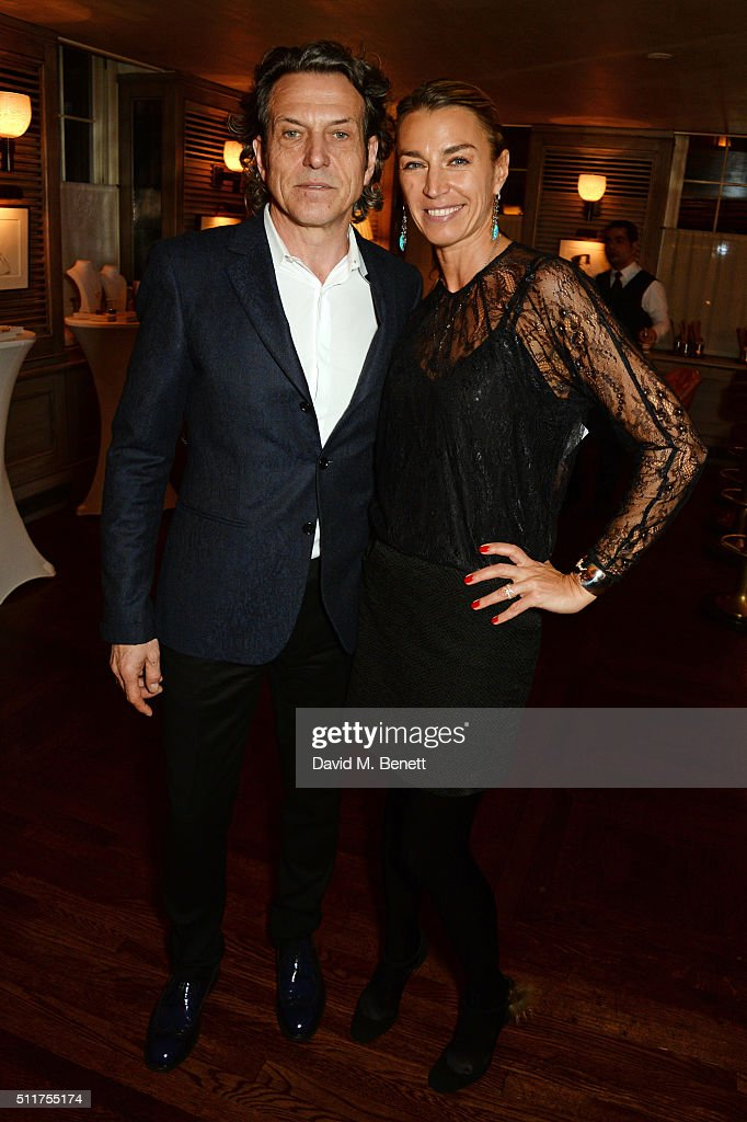 Stephen Webster (L) and Anastasia Webster attends the launch of Tracey Emin and Stephen Webster's new jewellery collection 'I Promise To Love You' at 34 Grosvenor Square on February 22, 2016 in London, England.