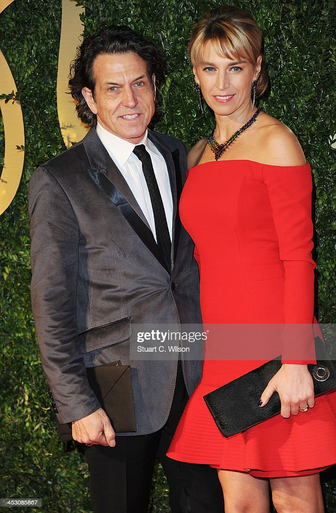 Stephen Webster (L) and Assia Webster attend the British Fashion Awards 2013 at London Coliseum on December 2, 2013 in London, England.