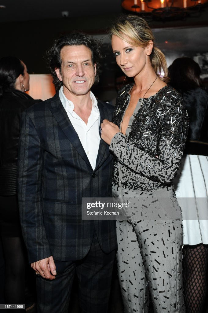 Stephen Webster and Lady <a gi-track='captionPersonalityLinkClicked' href=/galleries/search?phrase=Victoria+Hervey&family=editorial&specificpeople=208911 ng-click='$event.stopPropagation()'>Victoria Hervey</a> attend The 'Last Supper' Discussion hosted By Stephen Webster At Soho House at Soho House on November 8, 2013 in West Hollywood, California.