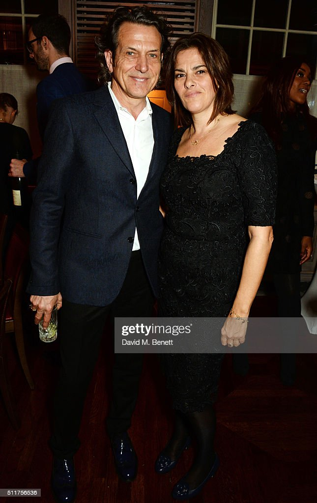 Stephen Webster (L) and Tracey Emin attend the launch of their new jewellery collection 'I Promise To Love You' at 34 Grosvenor Square on February 22, 2016 in London, England.