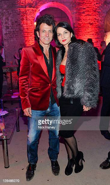 Stephen Webster and Yasmin Mills attend the launch of Stephen Webster's jewellery collections 'The 7 Deadly Sins' and 'No Regrets' at Old Vic Tunnels...