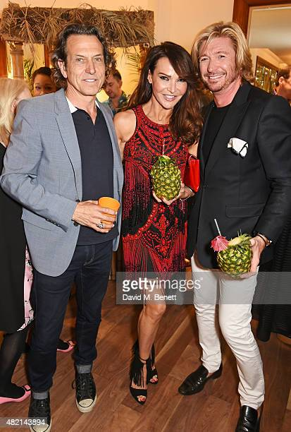 Stephen Webster Lizzie Cundy and Nicky Clarke attend An Audience With Nicky Clarke at the Nicky Clarke Mayfair salon on July 27 2015 in London England