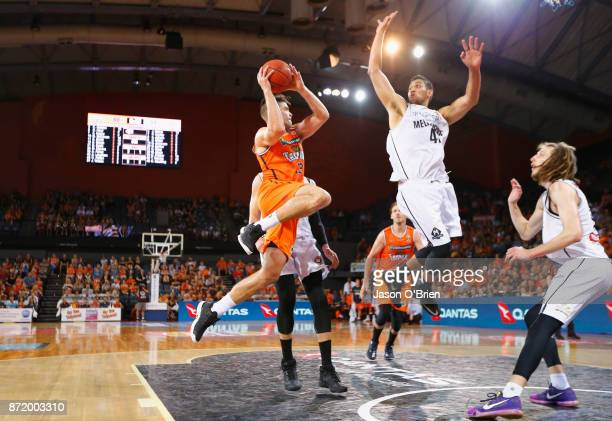 Stephen Weigh of the Taipans in action during the round six NBL match between the Cairns Taipans and Melbourne United at Cairns Convention Centre on...
