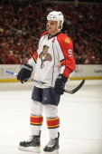 Stephen Weiss of the Florida Panthers looks on during a NHL hockey game against the Washington Capitals on January 8 2011 at the Verizon Center in...