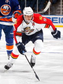Stephen Weiss of the Florida Panthers skates against the New York Islanders on November 20 2010 at Nassau Coliseum in Uniondale New York Panthers...
