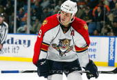 Stephen Weiss of the Florida Panthers skates against the New York Islanders on January 21 2010 at Nassau Coliseum in Uniondale New York Islanders...
