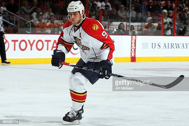 Stephen Weiss of the Florida Panthers skates against the Philadelphia Flyers on December 21 2009 at Wachovia Center in Philadelphia Pennsylvania